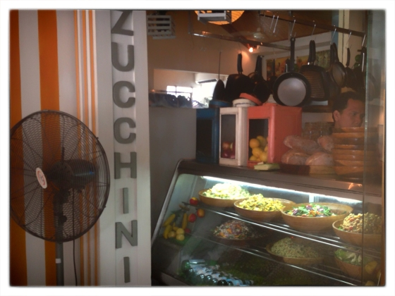 Salad's are changed daily and there are alwasy several choices, at Cafe Zucchini, Seminyak Bali