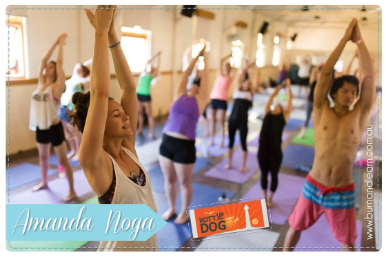 "Amanda Noga leading ""Balancing & Binding Vinyasa"""