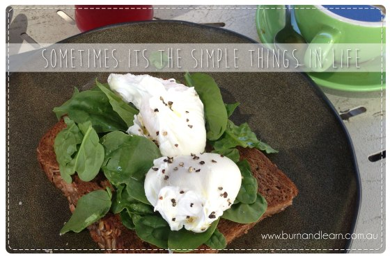 Sometimes it's the simple things in life!  Poached eggs, greens & toast