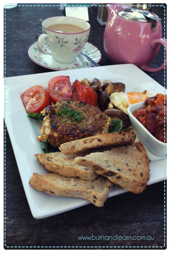 Big Vegetarian Breakfast at Swan Valley Cafe