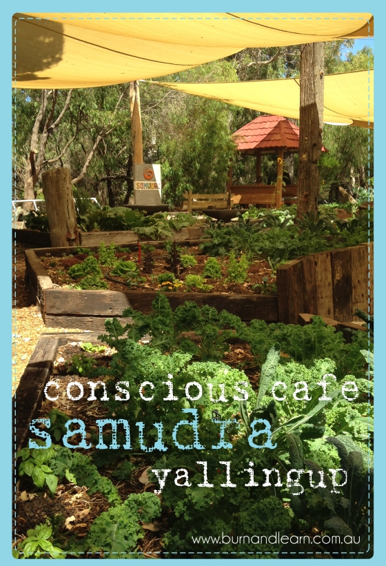 Samudra offers a variety of yoga classes and organic food. The veggie patch is an inspiration!